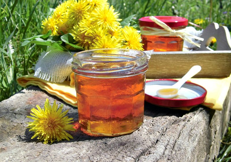 miele prodotto con fiori di tarassaco
