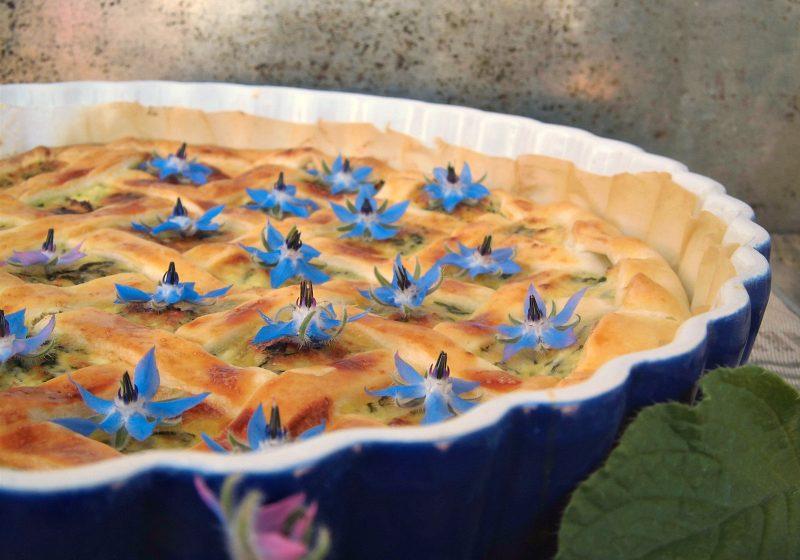 torta rustica con borragine