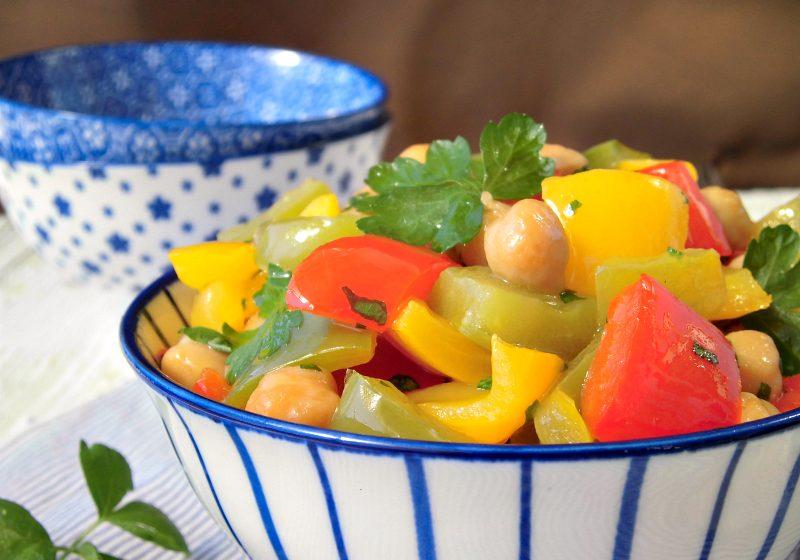 insalata di ceci e peperoni