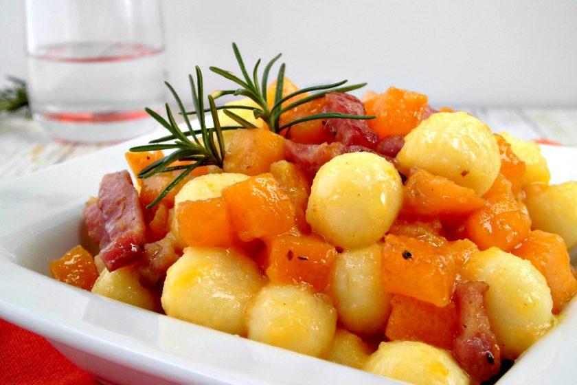 Chicche di patate con zucca e pancetta