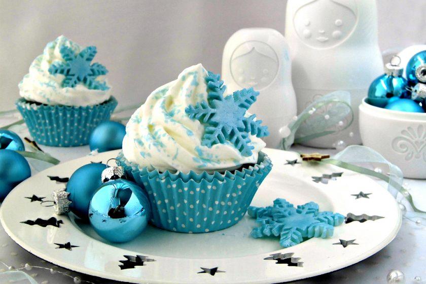 Cupcakes con cristalli di ghiaccio