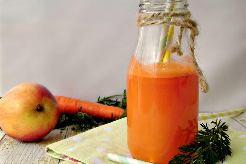 Mela e carota per un succo detox