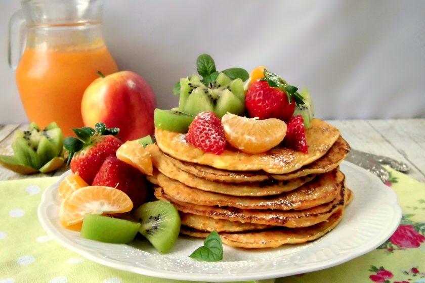 Pancakes con mela e carote