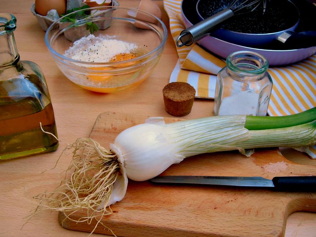 come preparare frittata di cipollotti