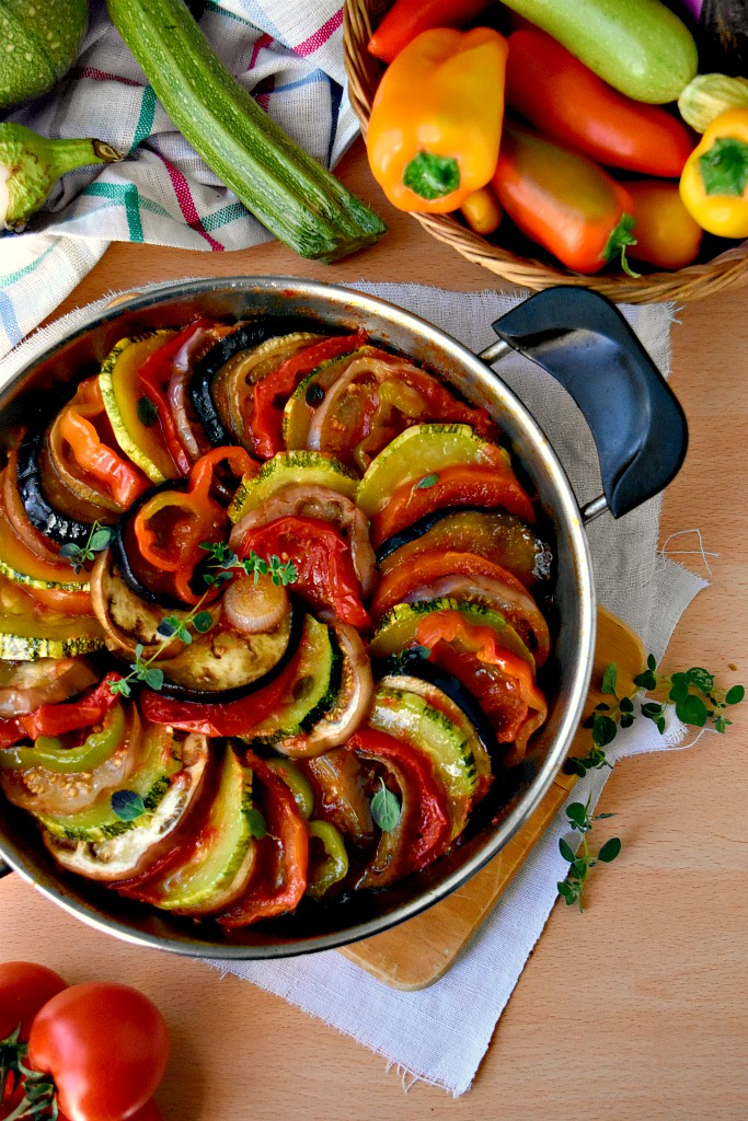 Ratatouille di verdure in padella