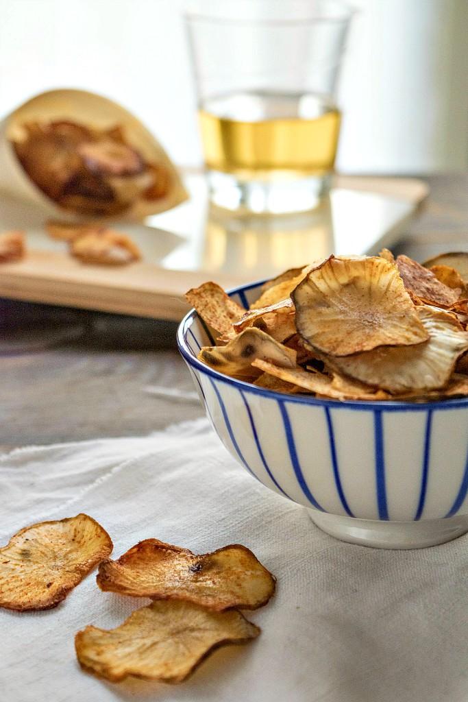 Chips di topinambur croccanti e sfiziose