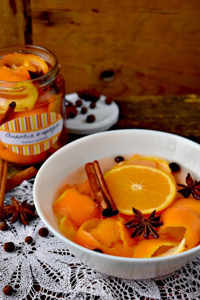 Profuma ambiente naturale con arancia e spezie