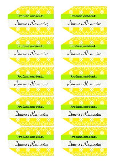 Tag Profumo per ambienti al limone e rosmarino