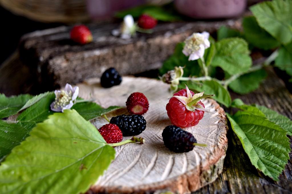 Smoothie ai frutti di bosco e Ashwagandha